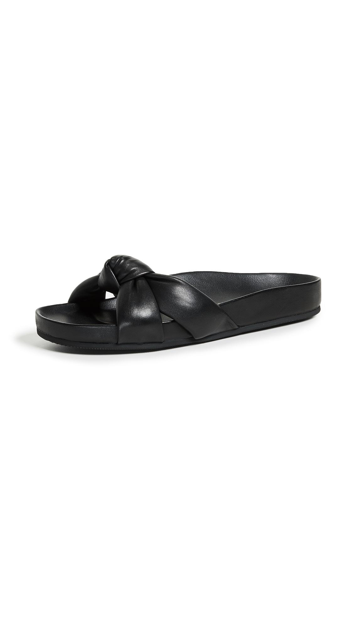 Loeffler Randall Gertie Knotted Slides - Black