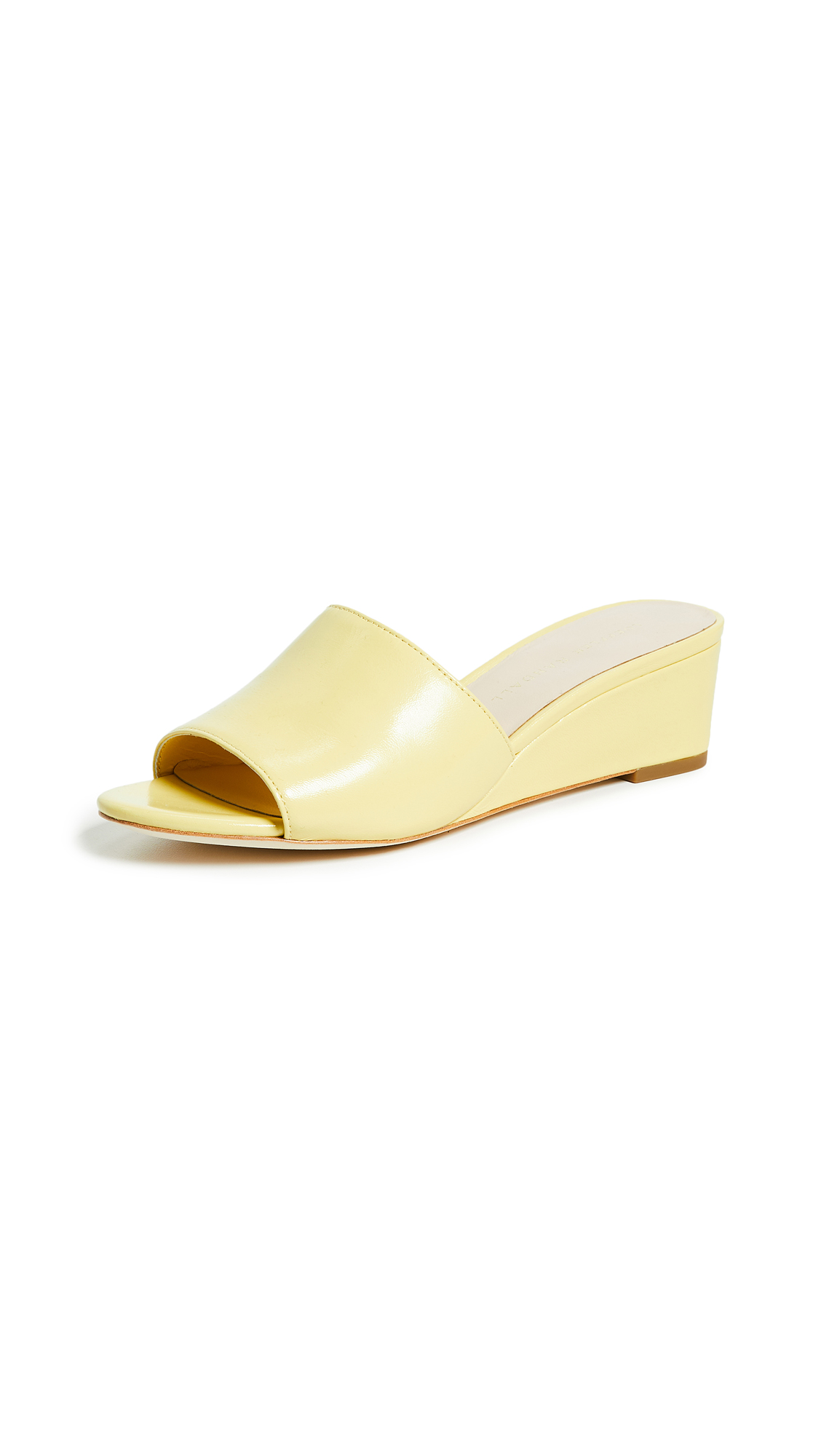 Loeffler Randall Tilly Demi Wedge Slides - Limoncello