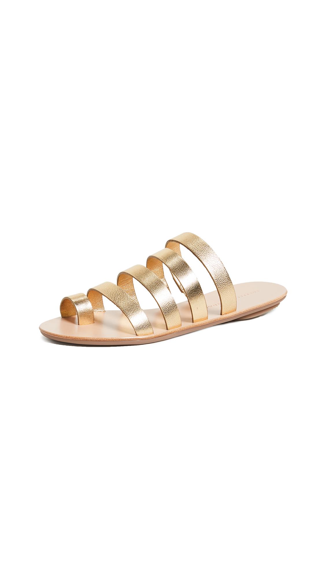 Loeffler Randall Bryce Sandals - Pale Gold