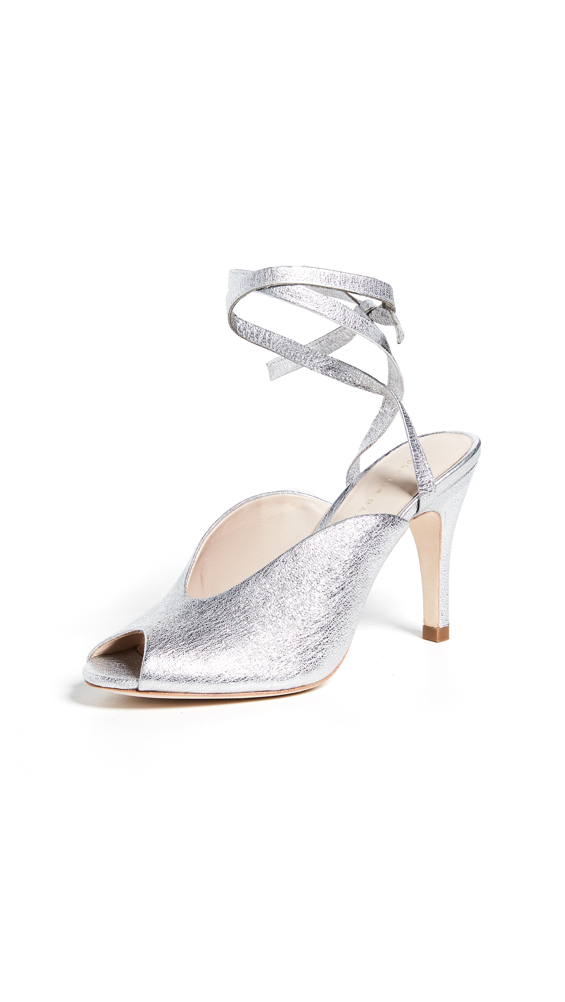 Loeffler Randall Mila Wrap Sandals - Silver