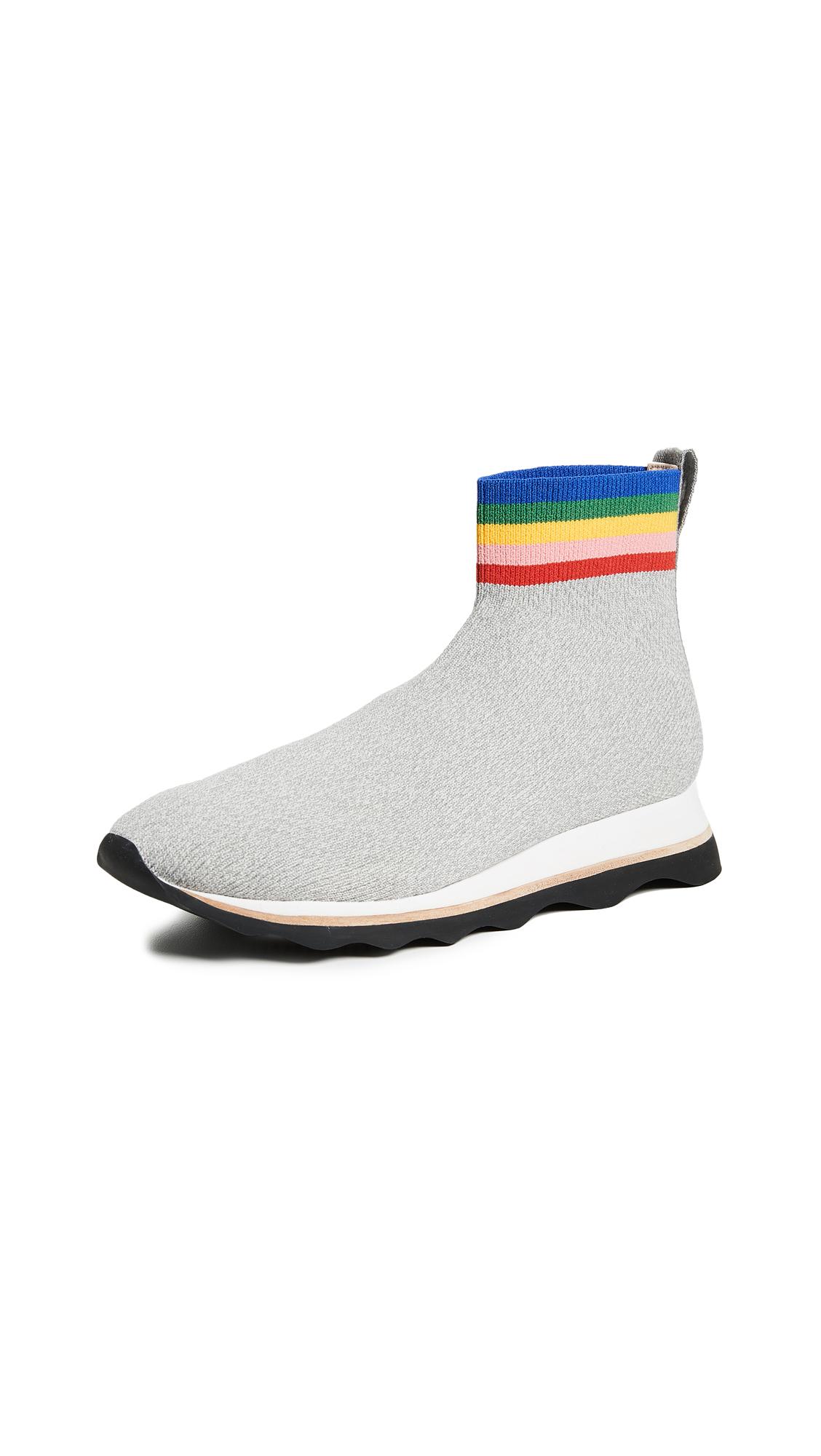Loeffler Randall Scout Knit Joggers - Grey/Rainbow