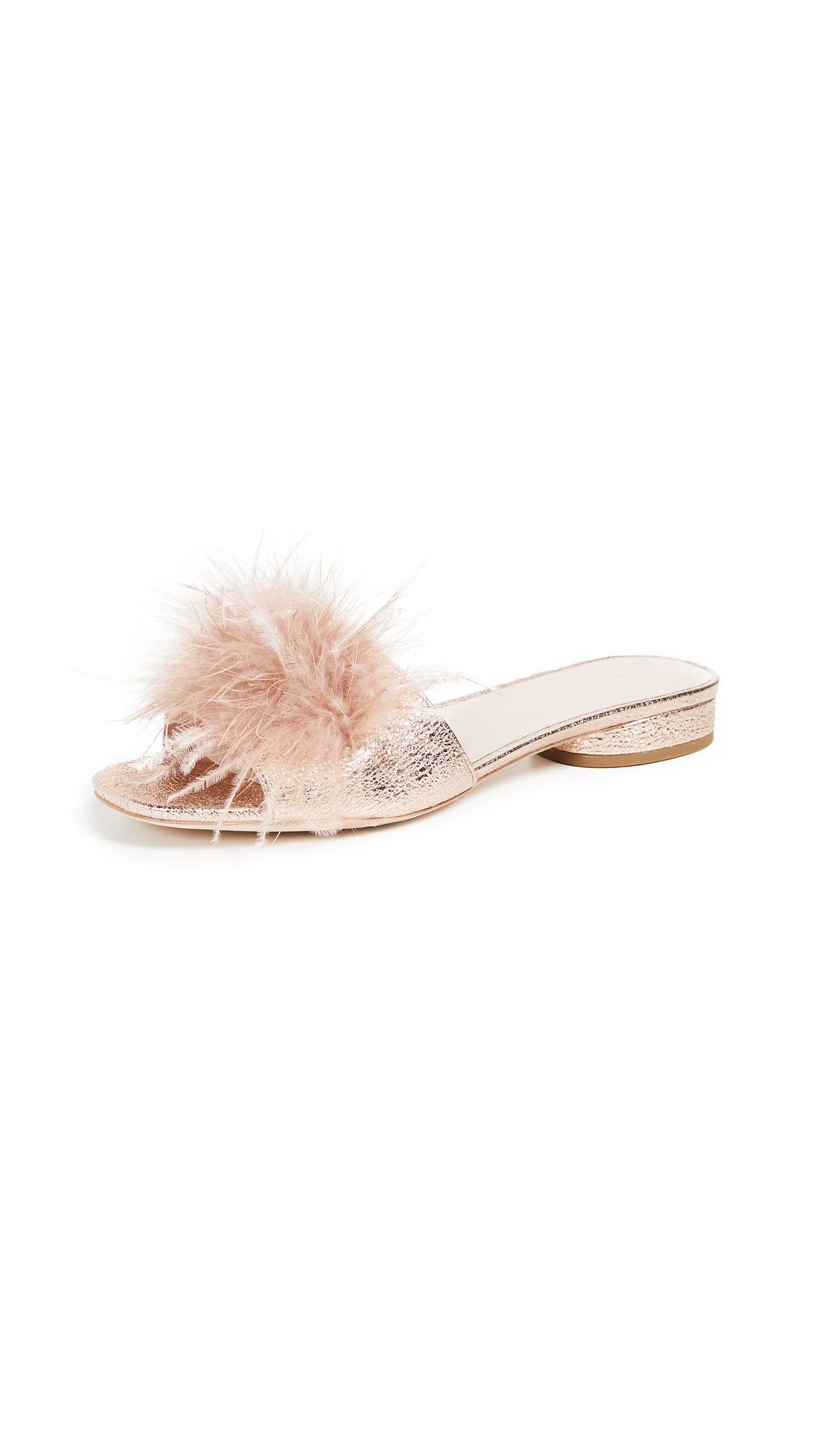 Loeffler Randall Lilly Slides - Rose Gold/Buff Pink