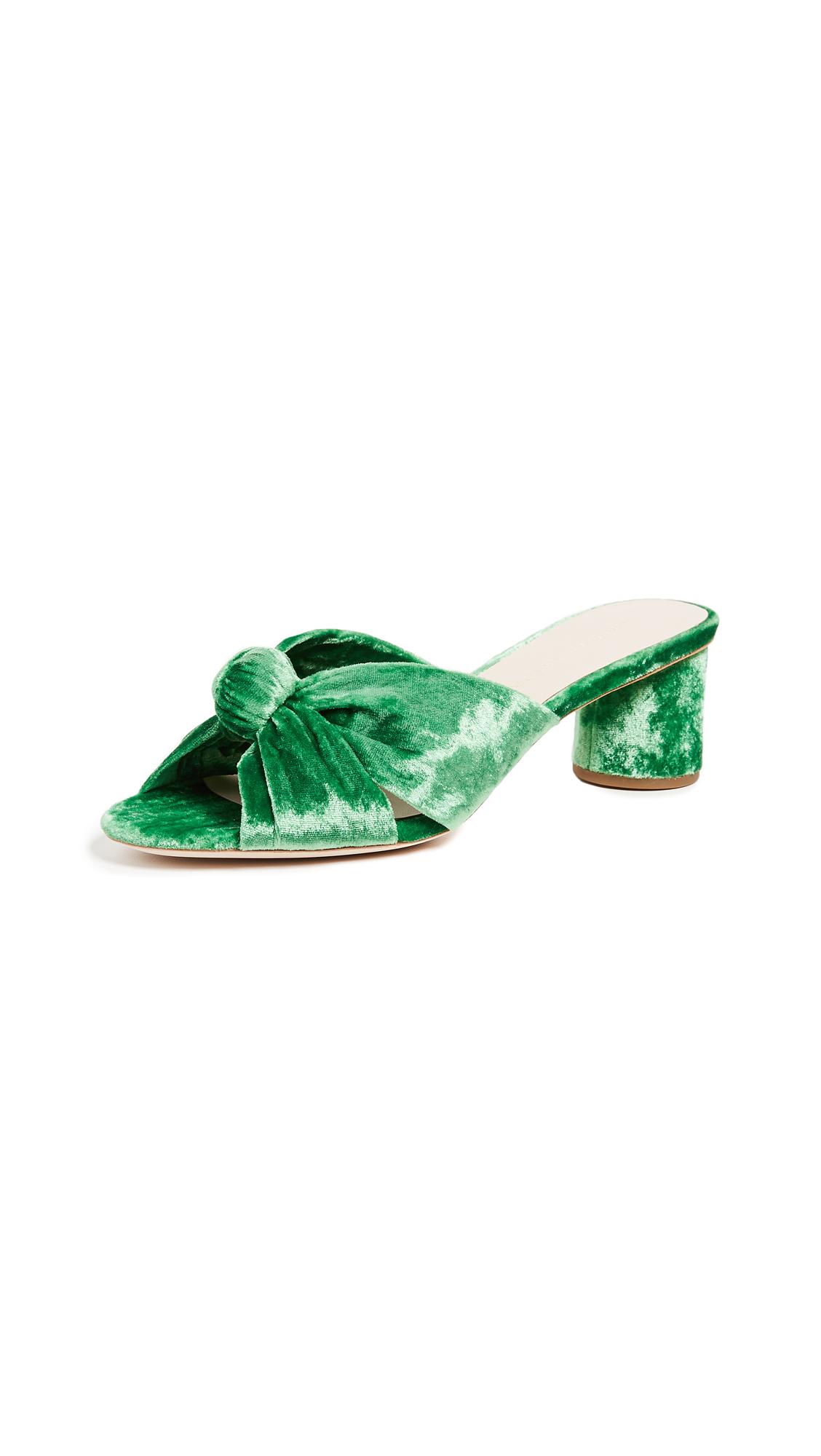 Loeffler Randall Celeste Knot Slides - Emerald