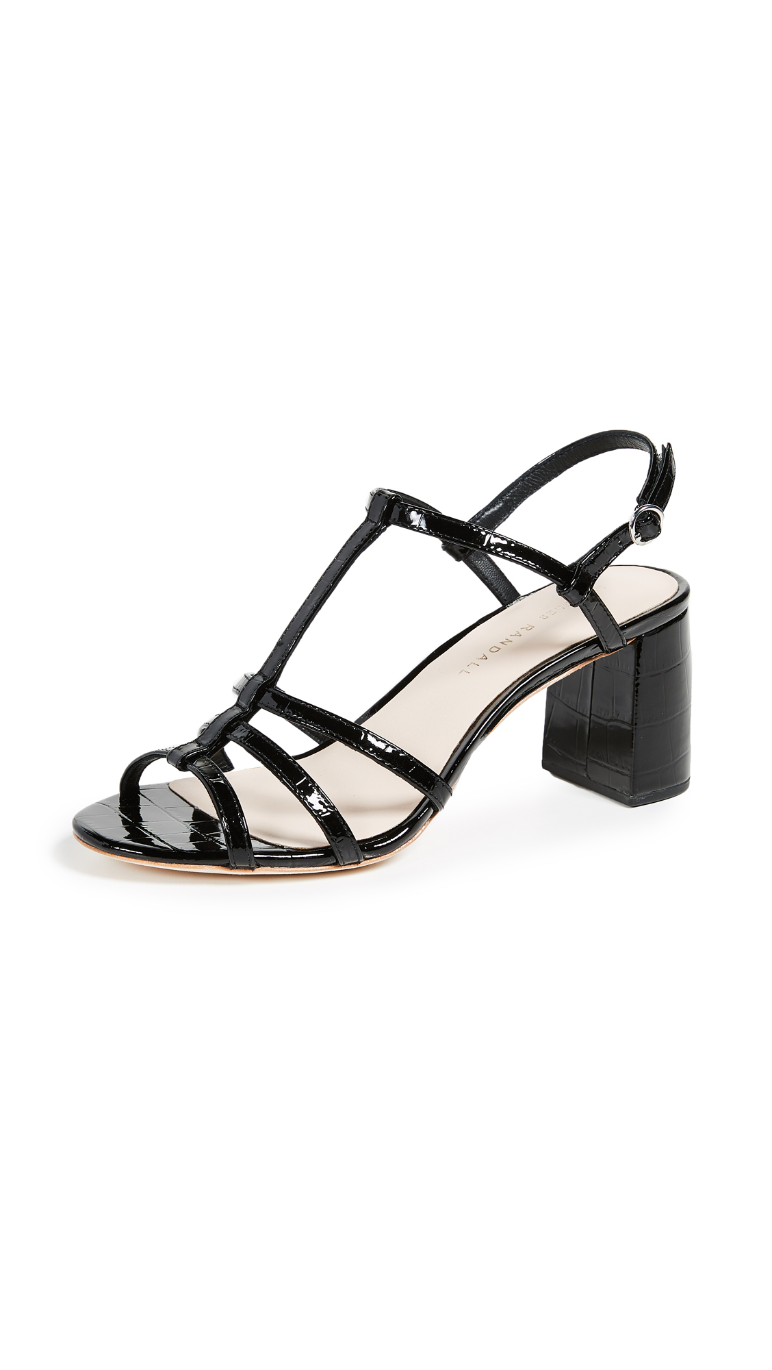 Loeffler Randall Elena Strappy Sandals - Black