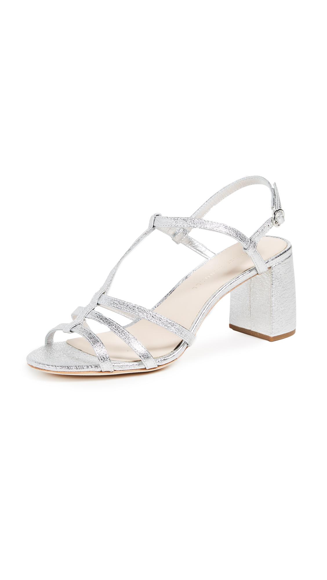 Loeffler Randall Elena Strappy Sandals - Silver