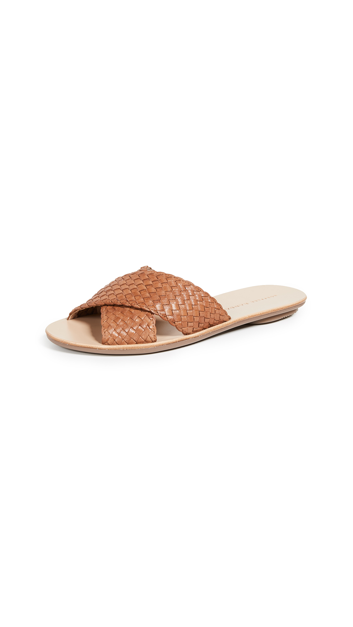 Loeffler Randall Claudie Slide Sandals - Timber Brown