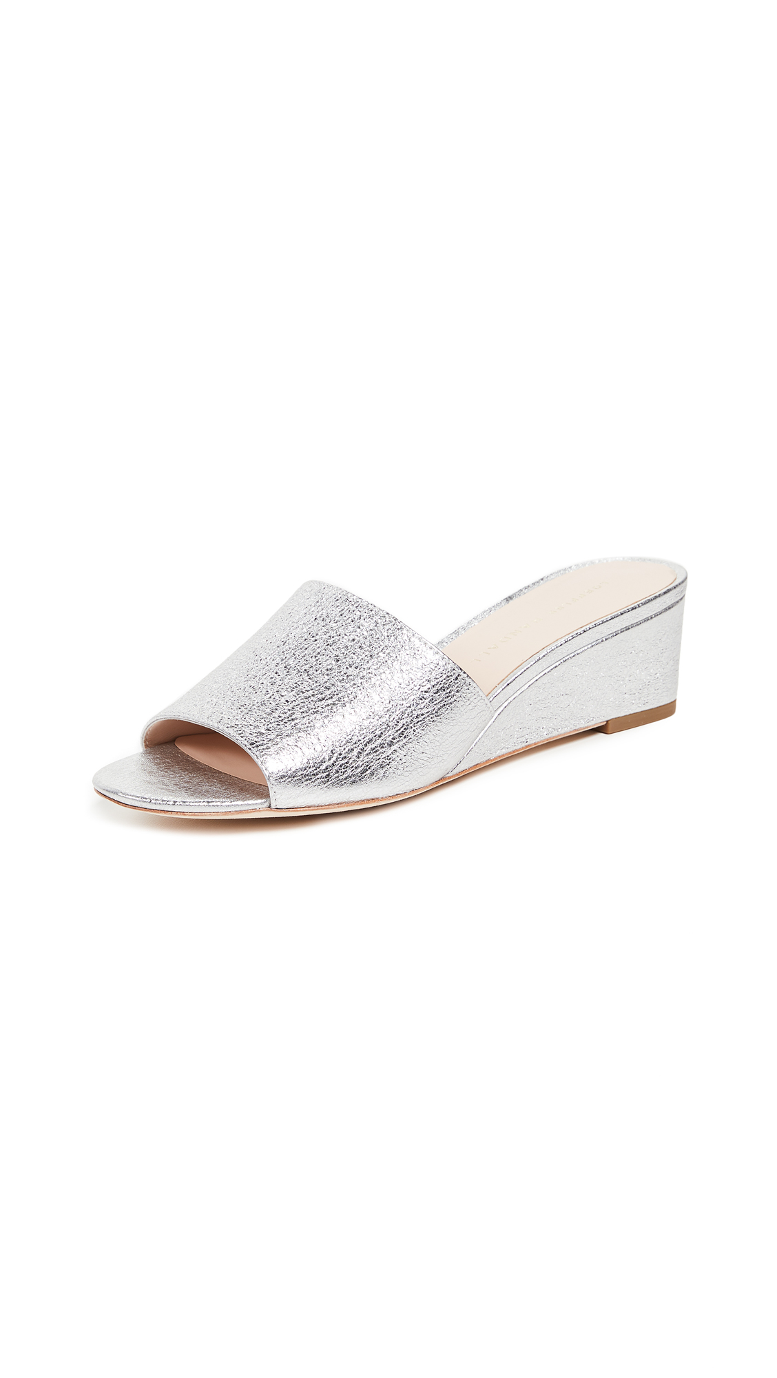 Loeffler Randall Tilly Wedge Slides - Silver