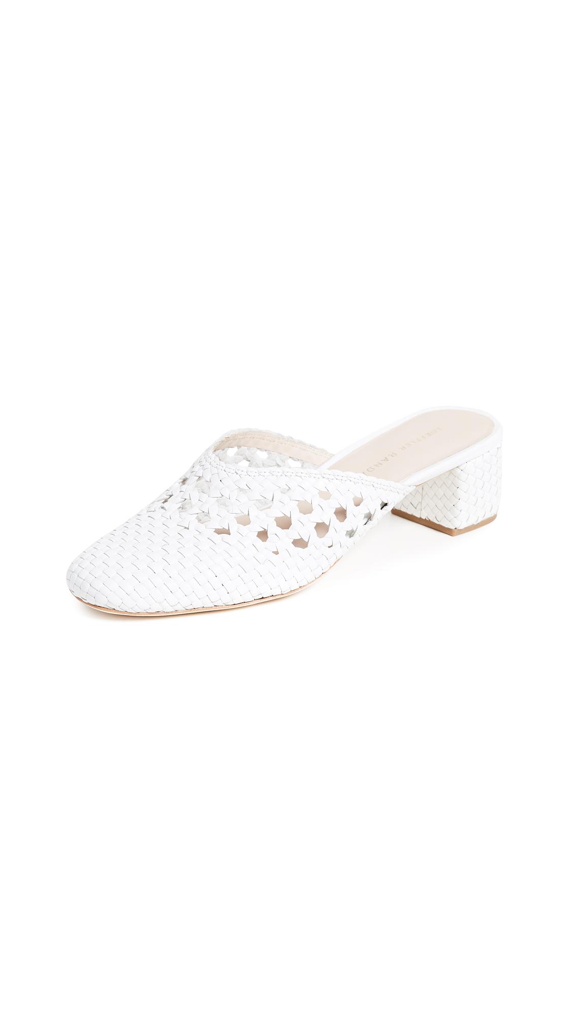 Loeffler Randall Lulu Square Toe Mules - Optic White