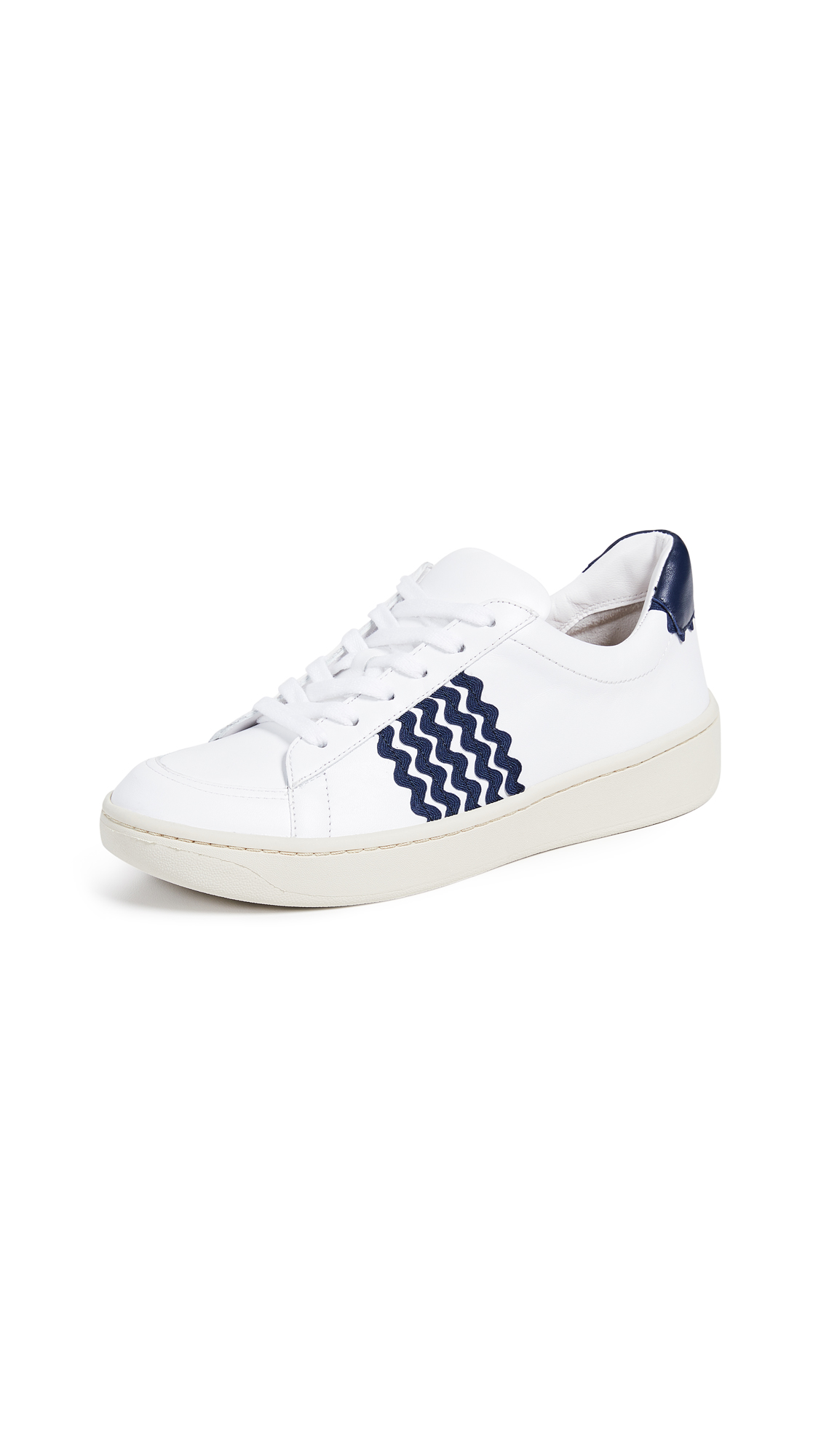 Loeffler Randall Elliot Sneakers - White/Eclipse Stripe
