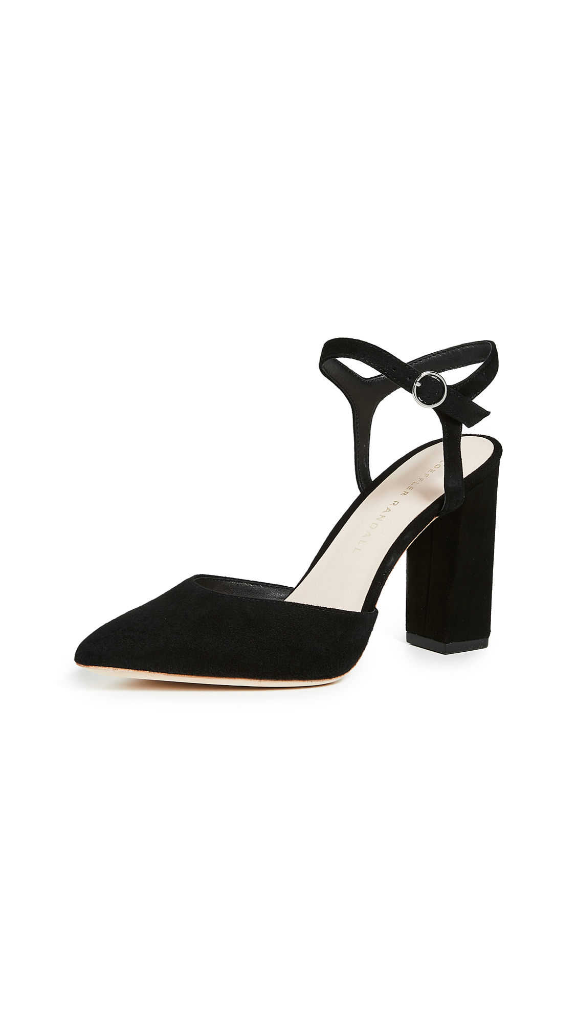 Loeffler Randall Leily Ankle Strap Pumps - Black