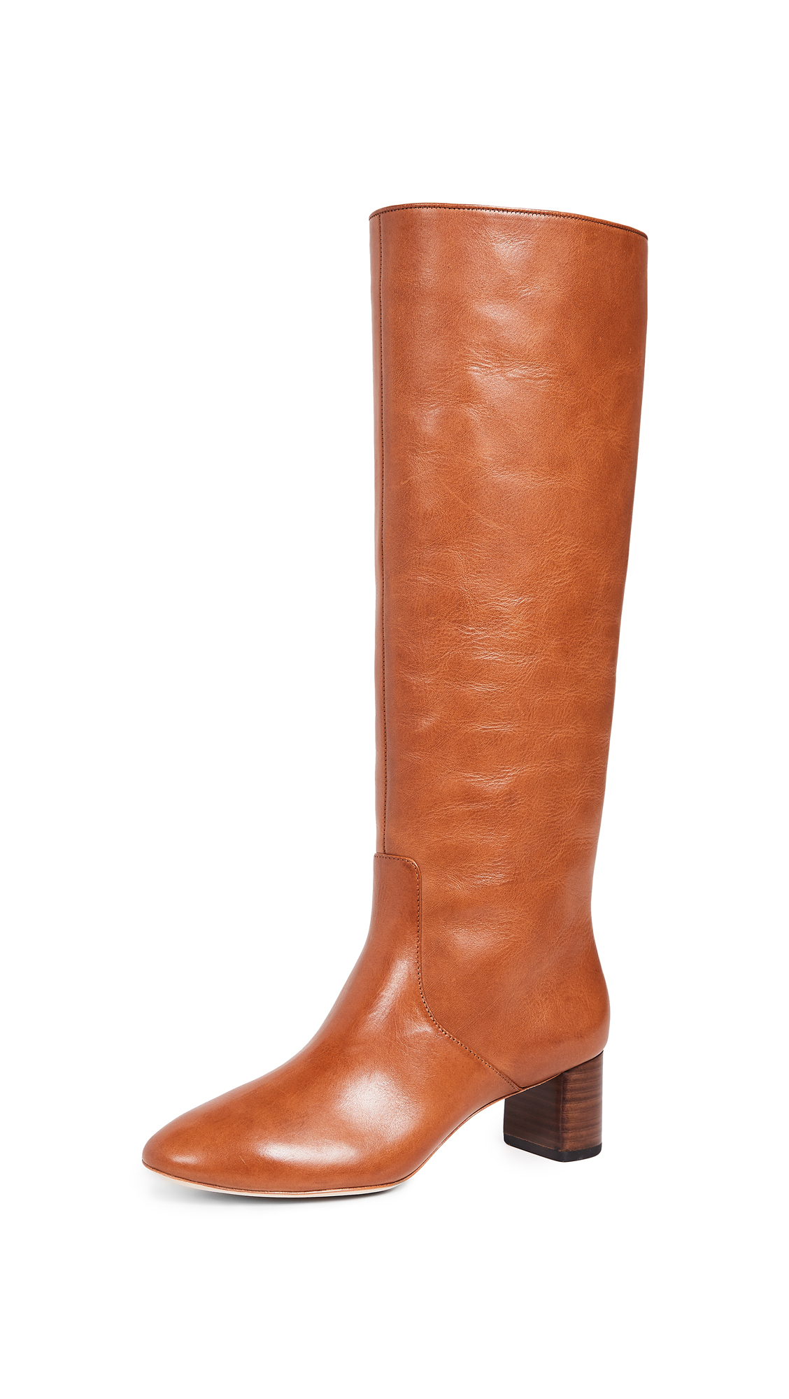 Gia Tall Boots in Cognac