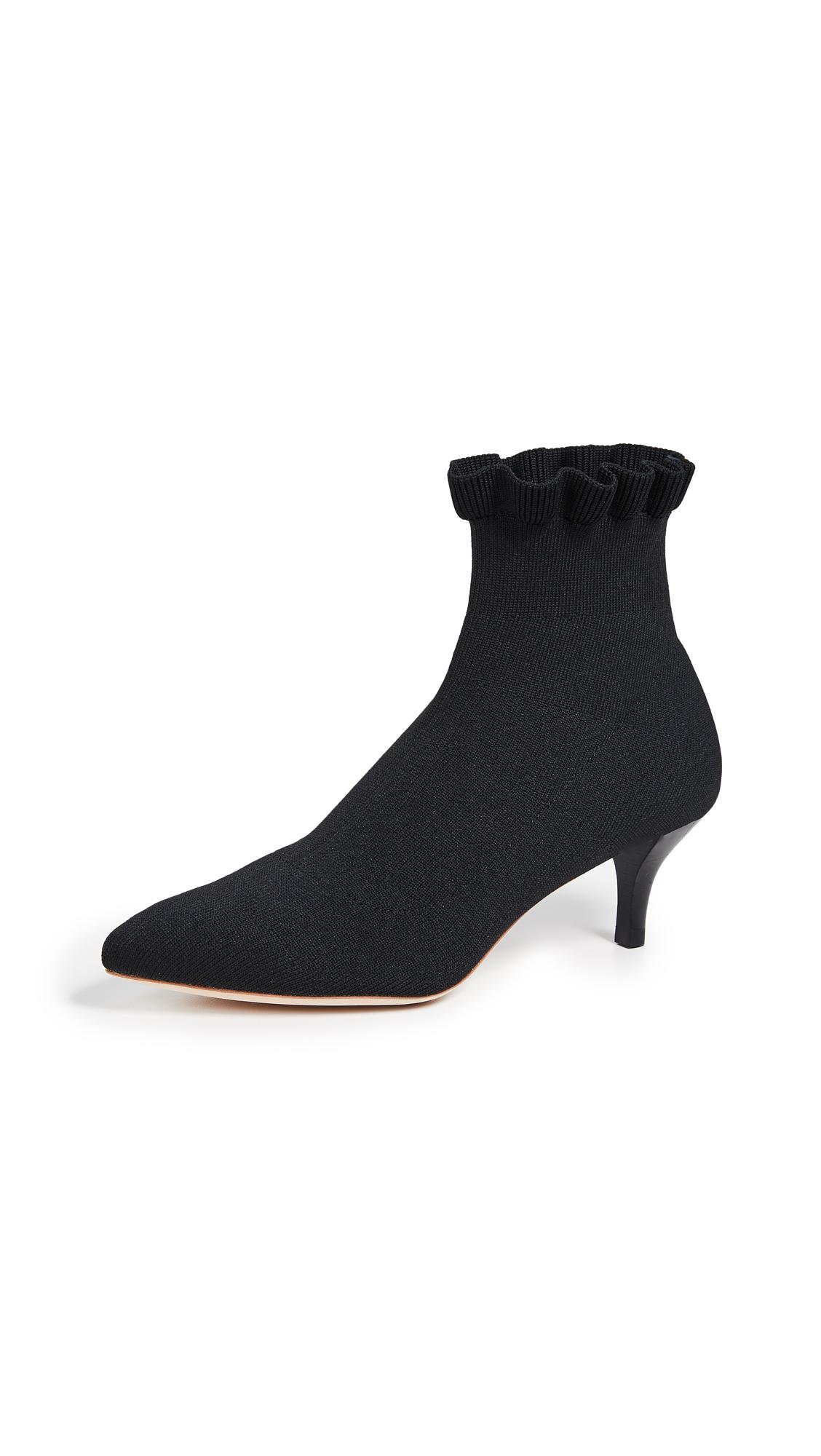 Loeffler Randall Kassidy Stretch Low Heel Booties - Black