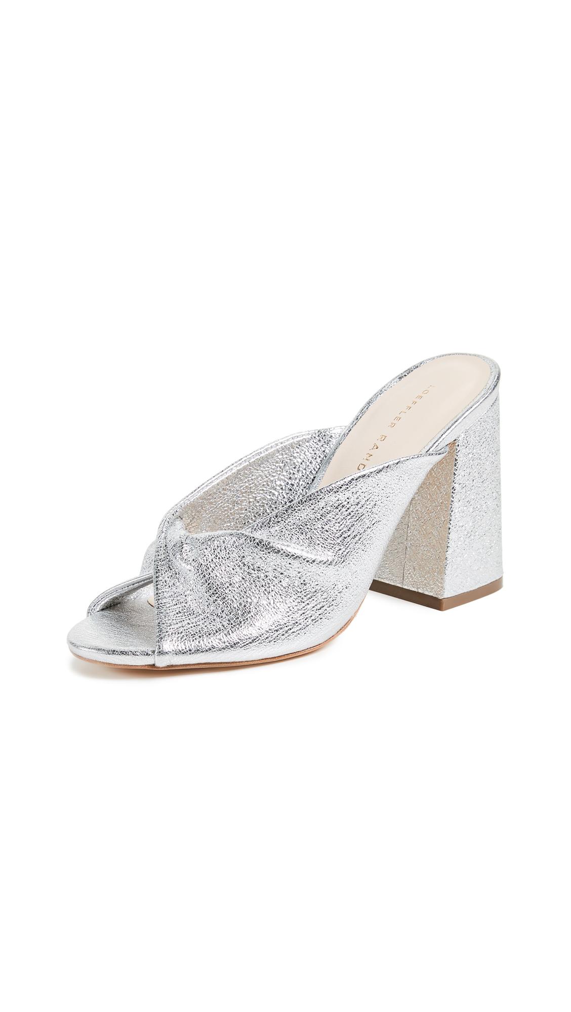 Loeffler Randall Laurel Open Toe Mules - Silver