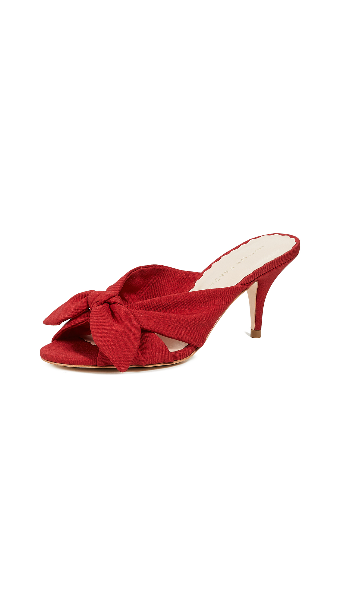 Loeffler Randall Luisa Knotted Kitten Heels - Bright Red