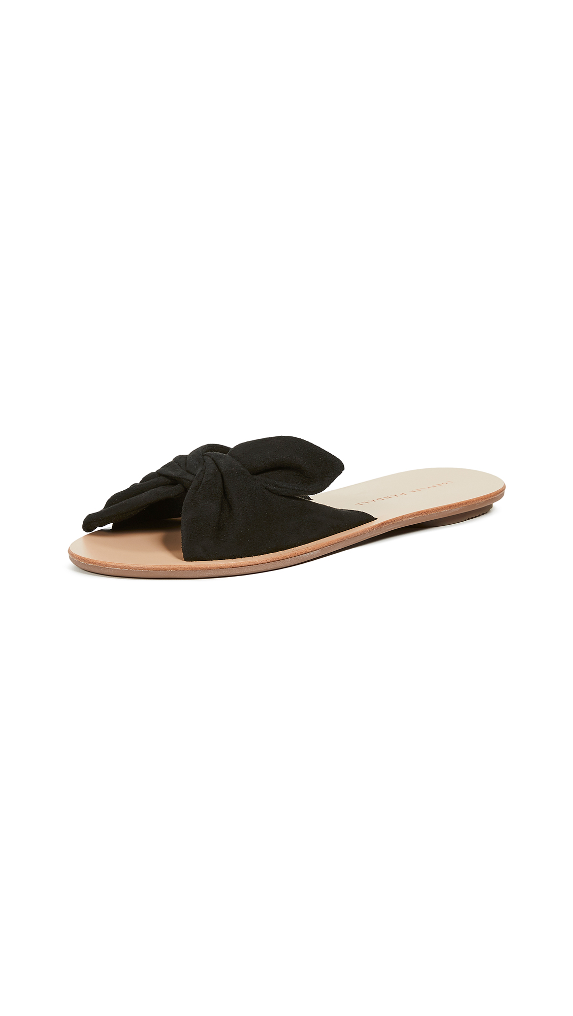 Loeffler Randall Phoebe Knotted Slide Sandals - Black