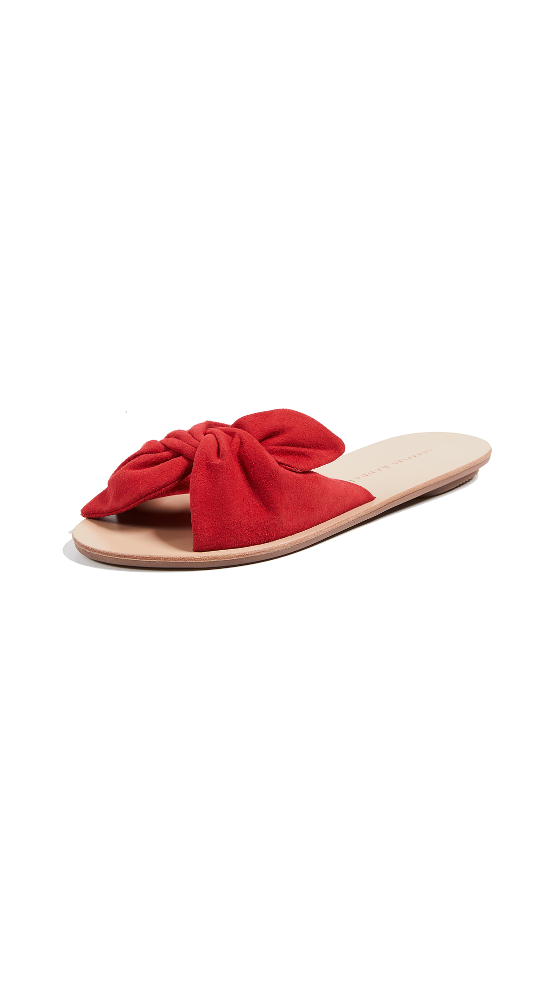 Loeffler Randall Phoebe Knotted Slide Sandals - Bright Red