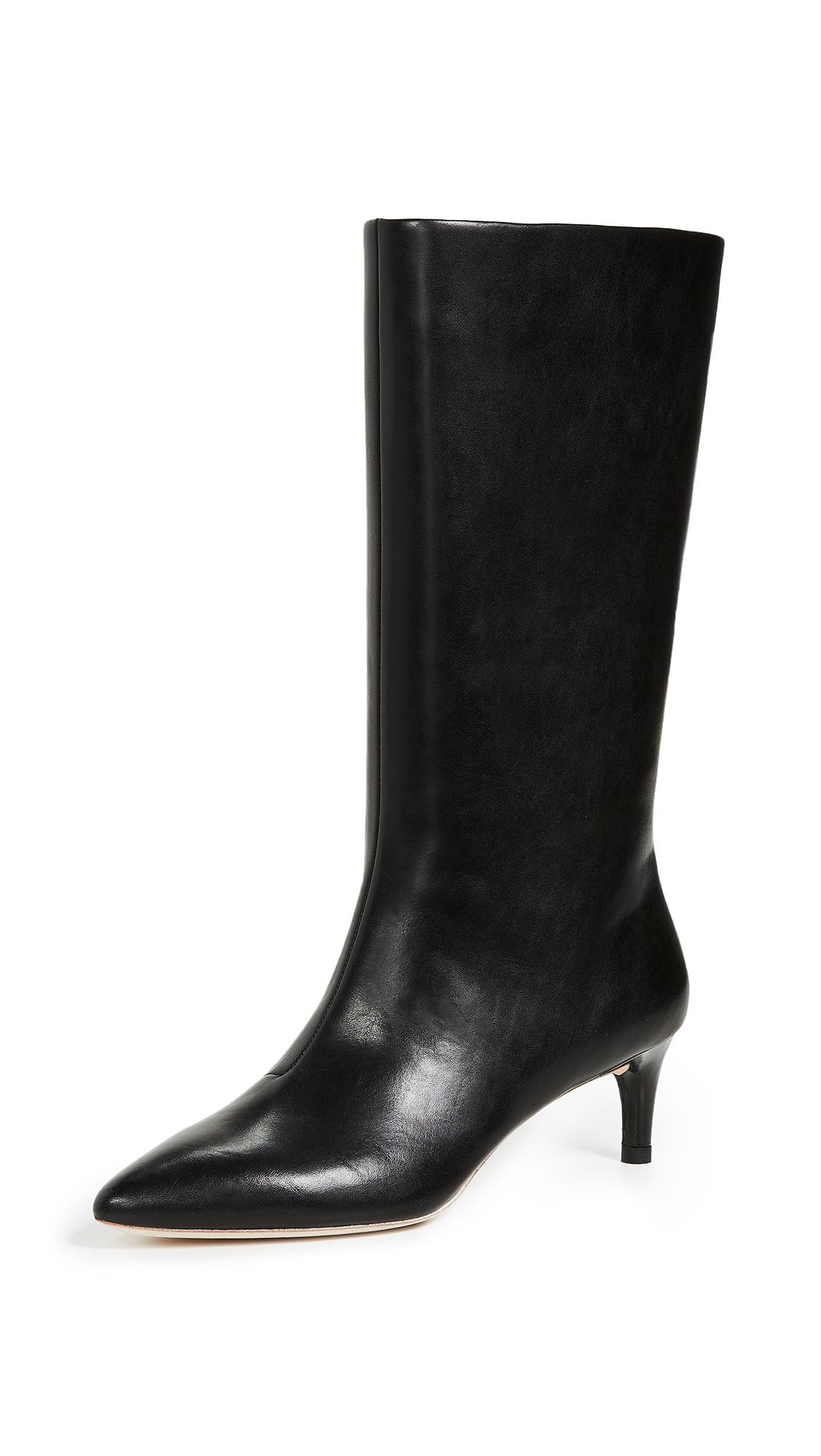 Loeffler Randall Naomi Kitten Heel Tall Boots - Black