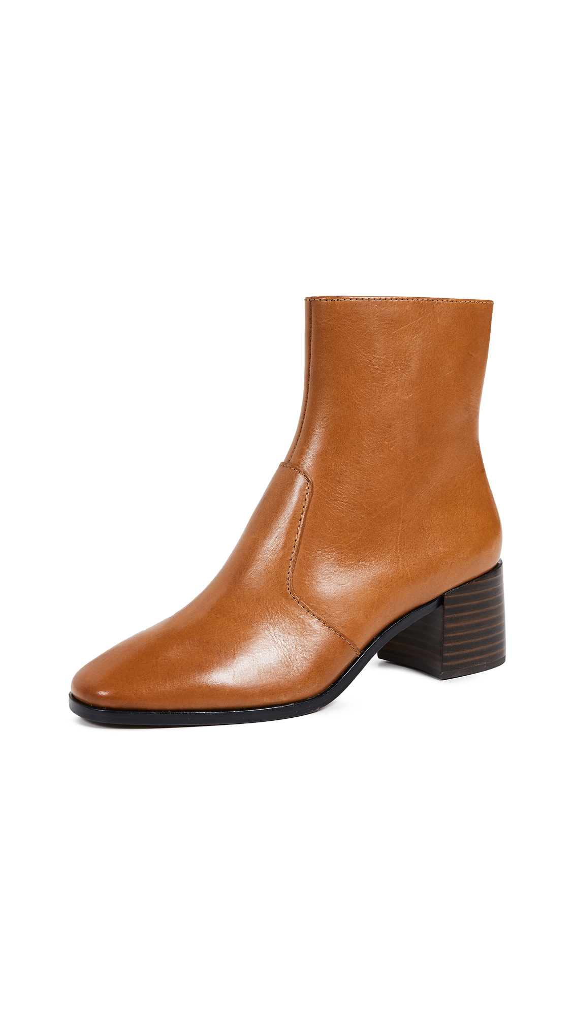 Loeffler Randall Grant Square Toe Boots - Cognac