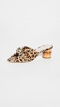 99b9277243 Loeffler Randall. Celeste Mid Heel Knot Slide Sandals