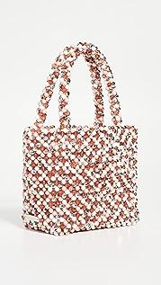 Loeffler Randall Объемная сумка с короткими ручками с бусинами Mina
