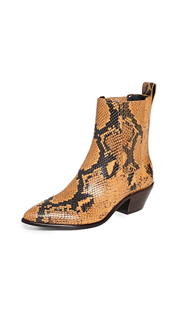 Loeffler Randall Aylin Low Western Booties With Gore