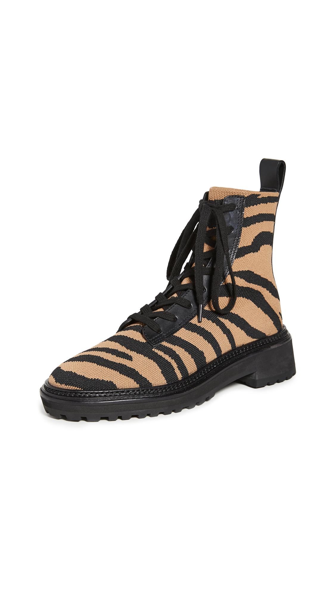 Buy Loeffler Randall online - photo of Loeffler Randall Brady Stretch Knit Combat Boots