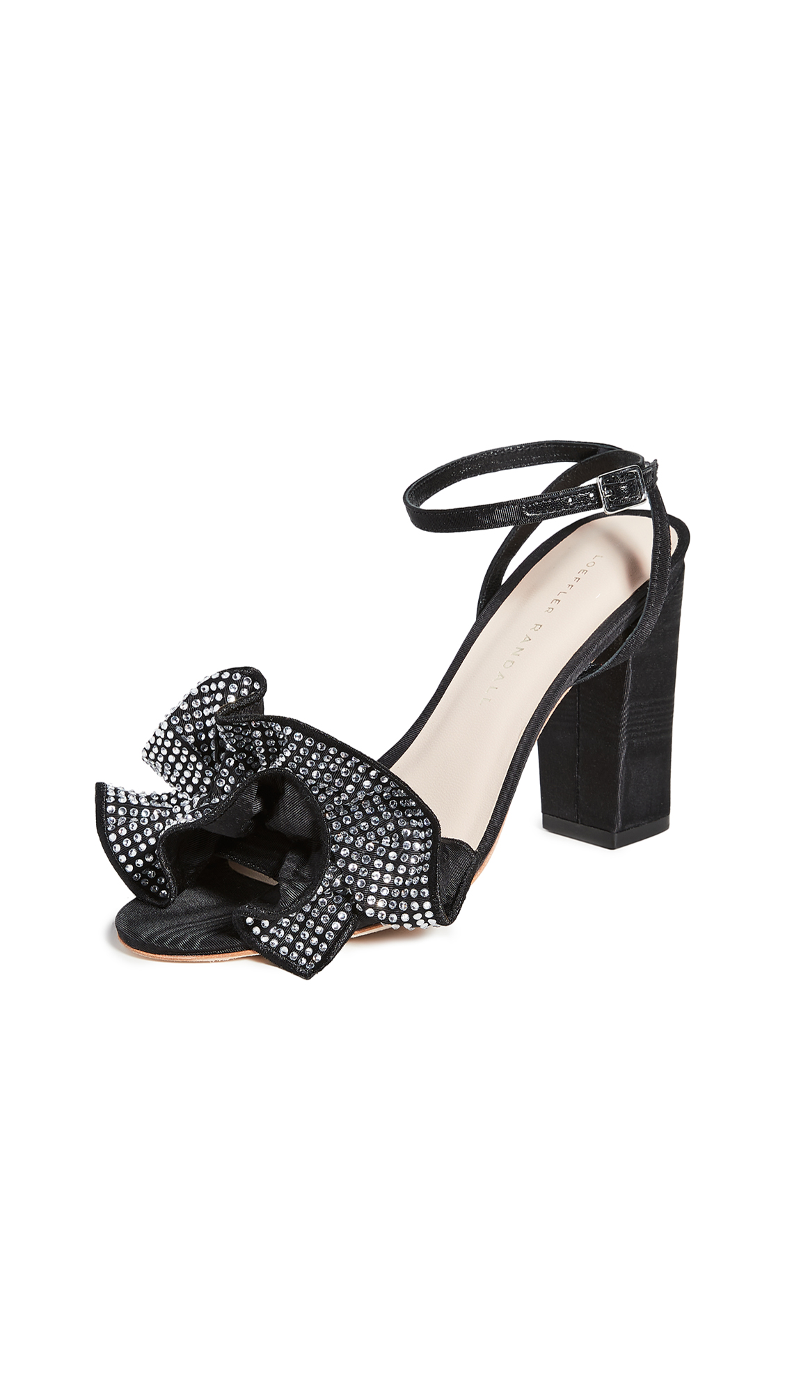 Buy Loeffler Randall online - photo of Loeffler Randall Savannah Ruffle Heel Sandals