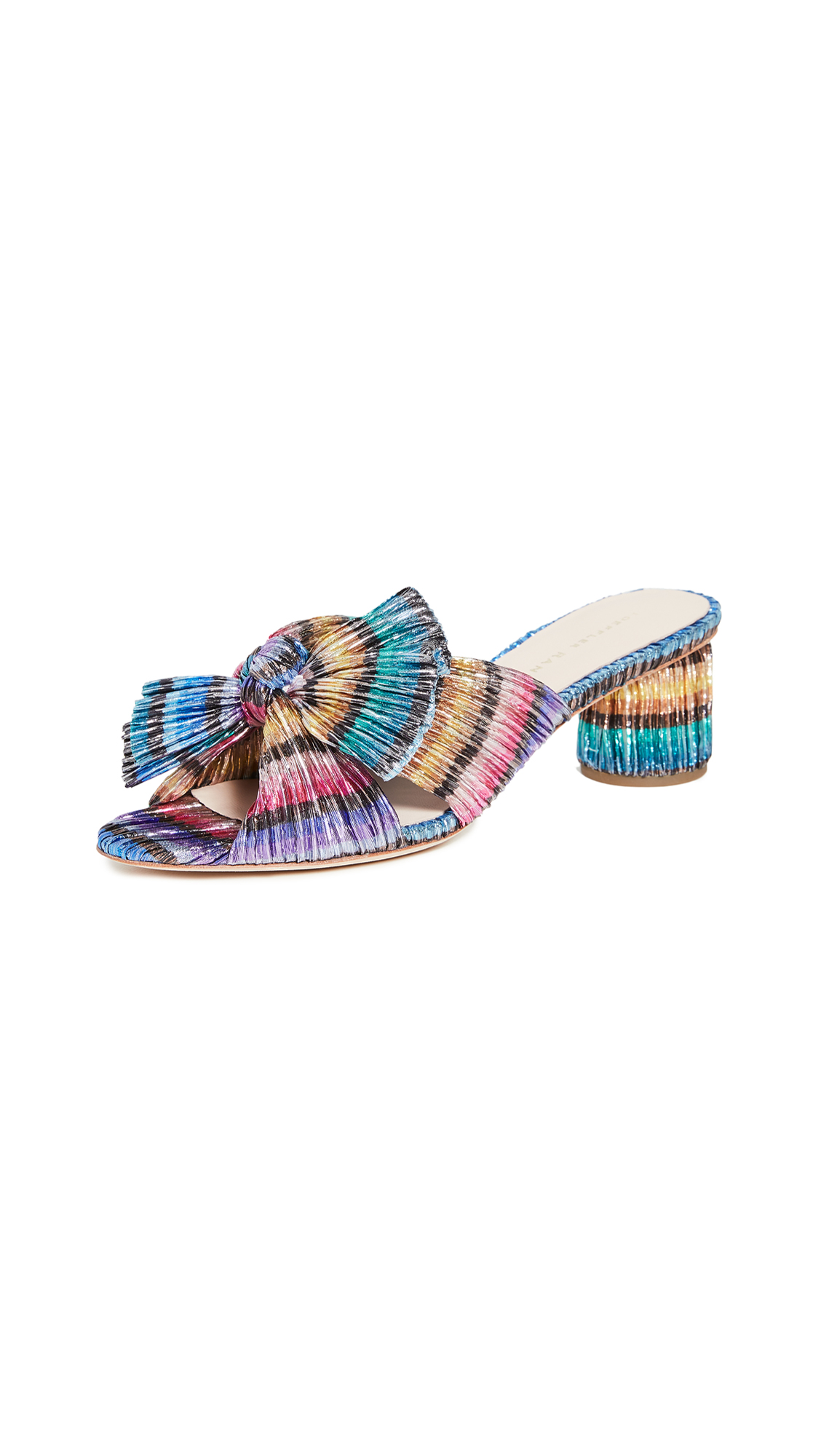 Buy Loeffler Randall online - photo of Loeffler Randall Emilia Pleated Knot Mules