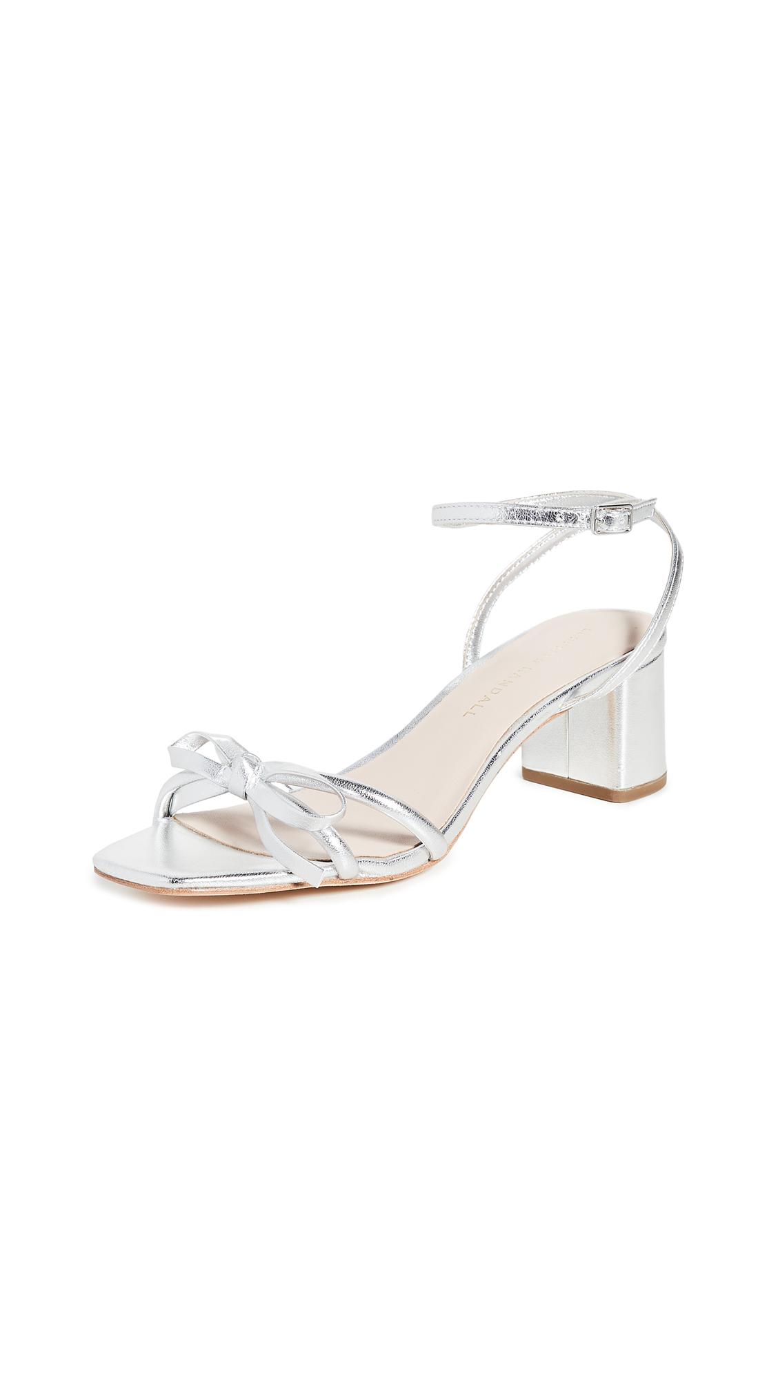 Buy Loeffler Randall Gracie Skinny Strap Bow Low Heel Sandals online, shop Loeffler Randall