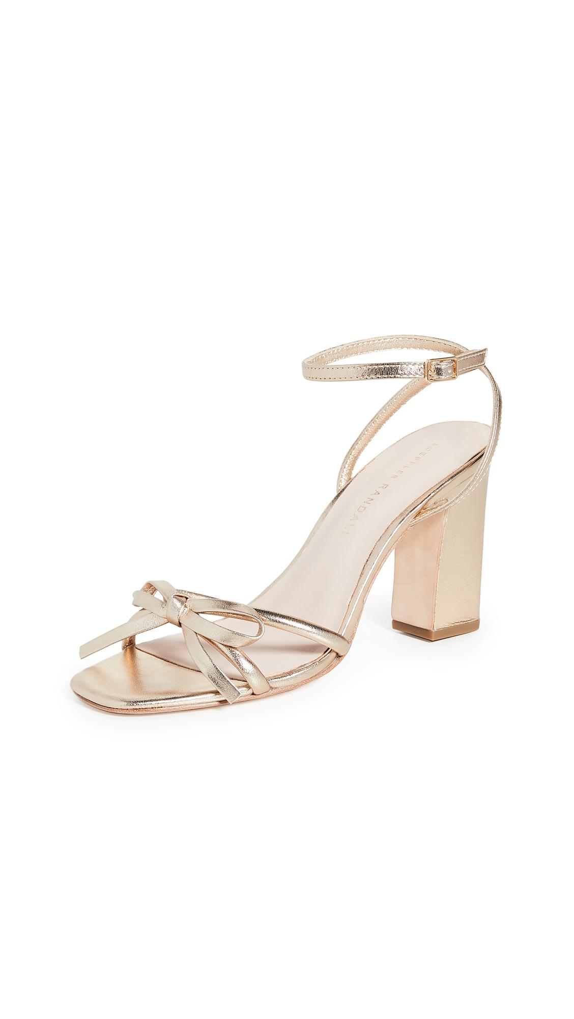 Loeffler Randall Maeve Knot Bow Ankle Strap Heel Sandals - 40% Off Sale