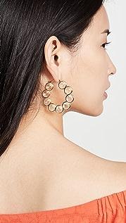 Loeffler Randall Violetta Crystal Hoop Earrings