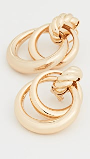 Loeffler Randall Noelle Double Door Knocker Hoops