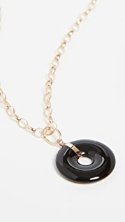 Loren Stewart 14k Onyx Torus Pendant Necklace