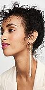 Loren Stewart 14k Pearl Tassel Link Hoop Earring