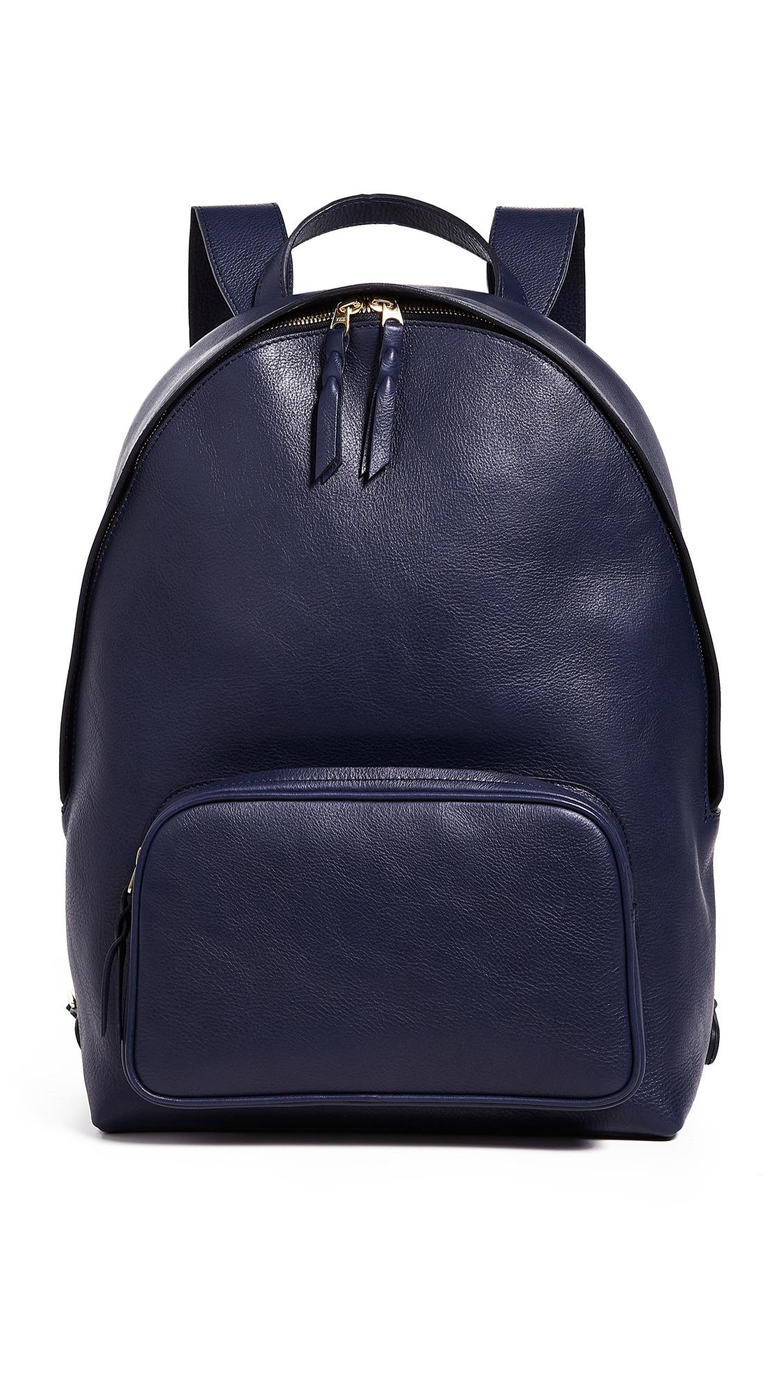 LOTUFF LEATHER Leather Zipper Backpack in Indigo
