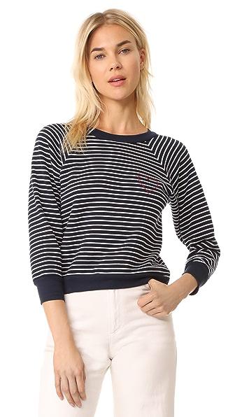 Loup Boy Sweatshirt In Stripe