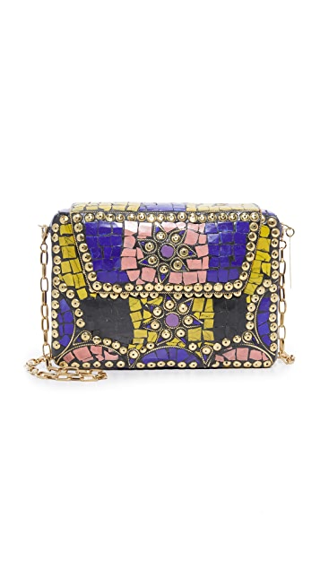Love Binetti Metal Box Cross Body Bag