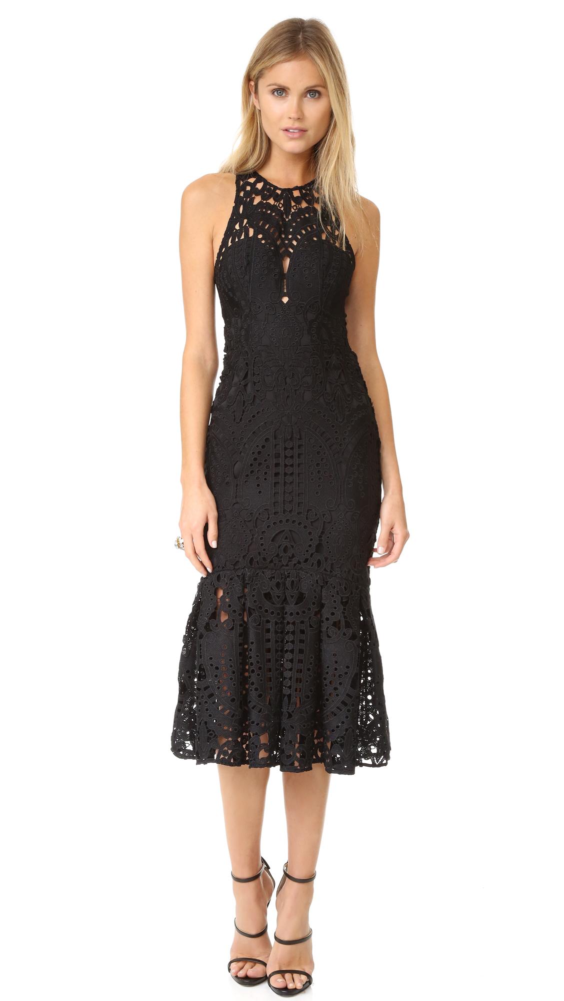 Lover Harmony Cutout Midi Dress - Black