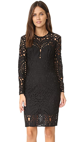 Lover Harmony Lace Long Sleeve Mini Dress