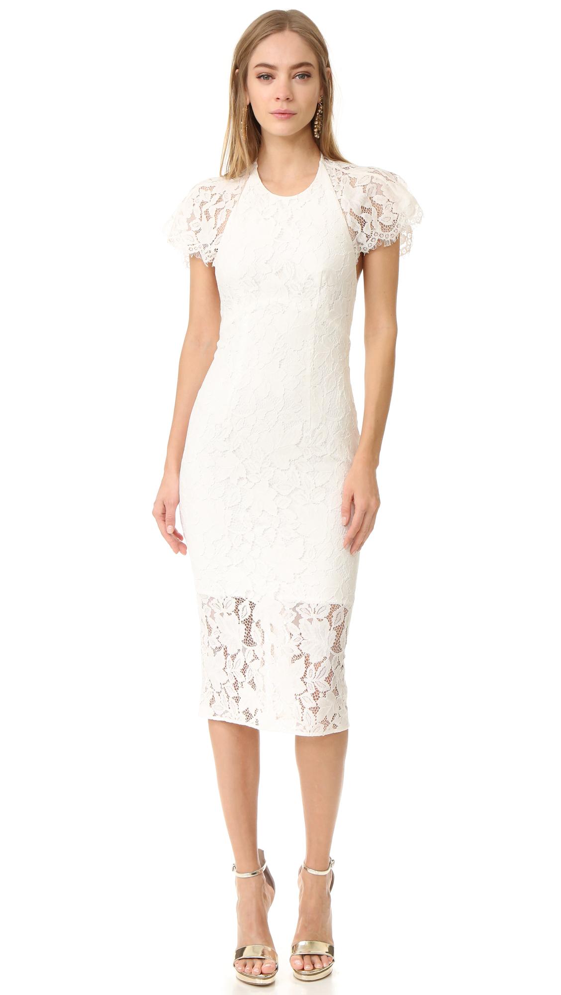 Lover Affinity Midi Dress - White