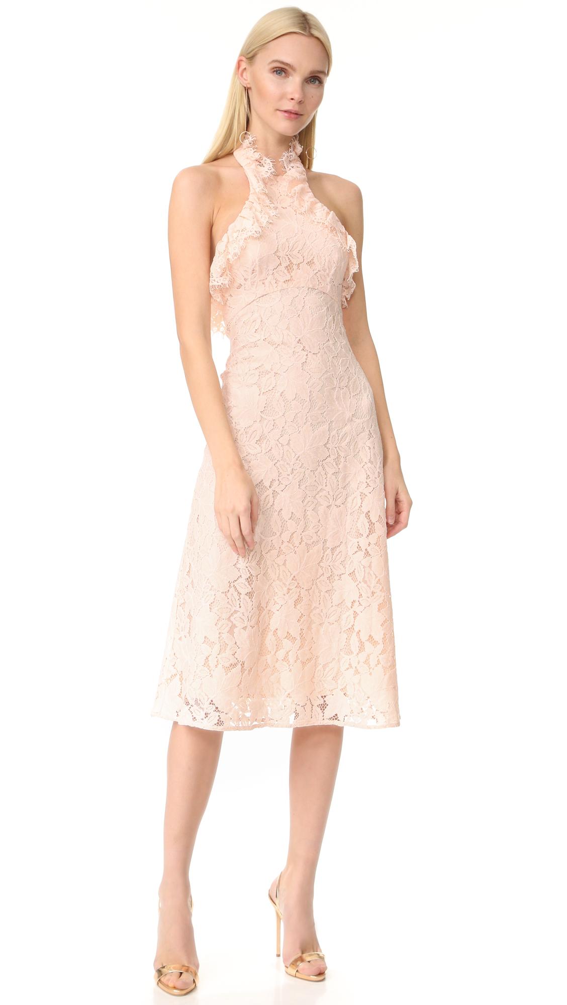 Lover Affinity Ruffle Halter Dress - Tearose