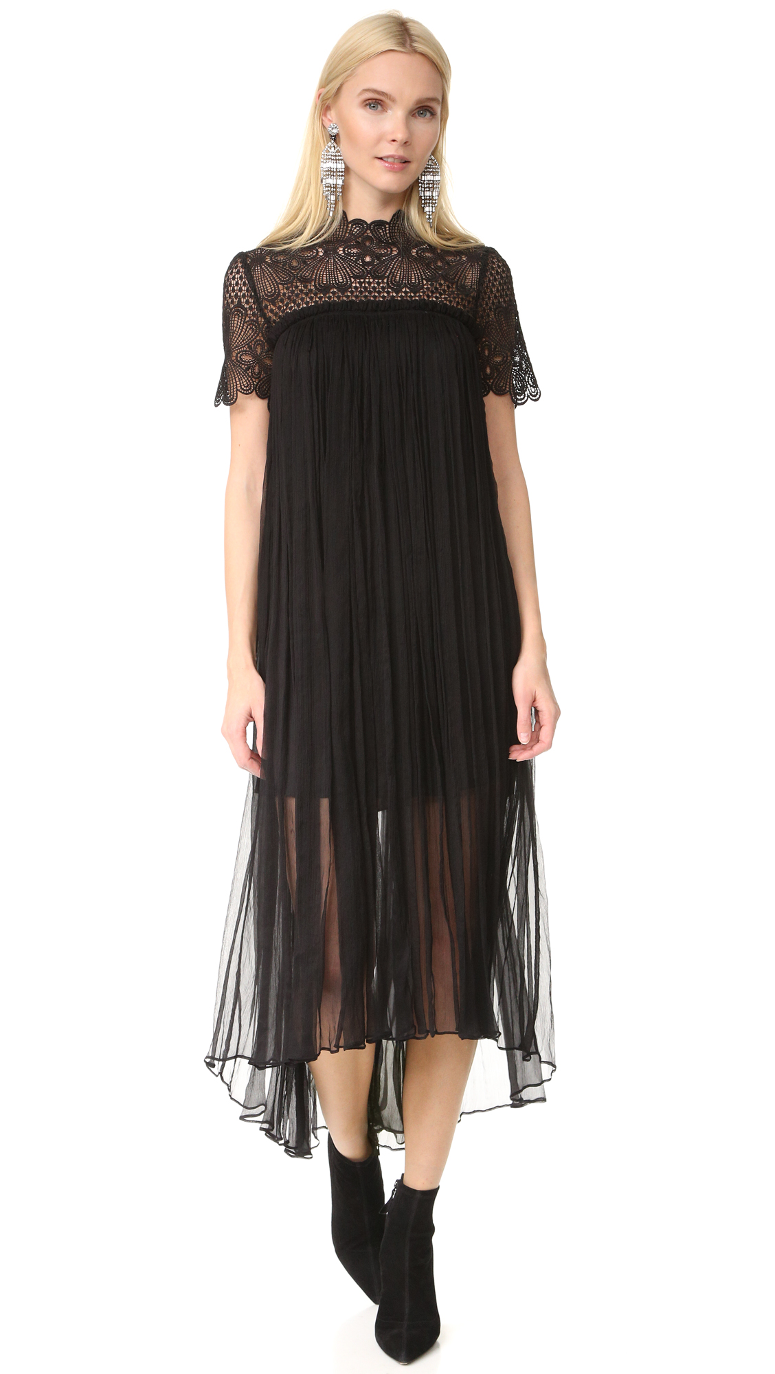 Lover Camelia Silk Maxi Dress - Black