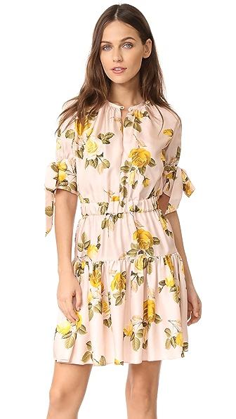Lover Albertine Mini Dress In Dusty Rose