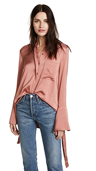 Lover Sway Shirt In Clay