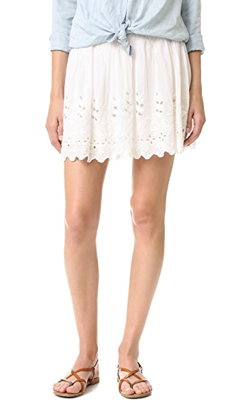 Love Sam Garden Eyelet Embroidered Skirt - Swan