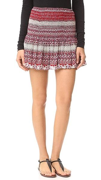 Love Sam Smocked Skirt - Red Multi