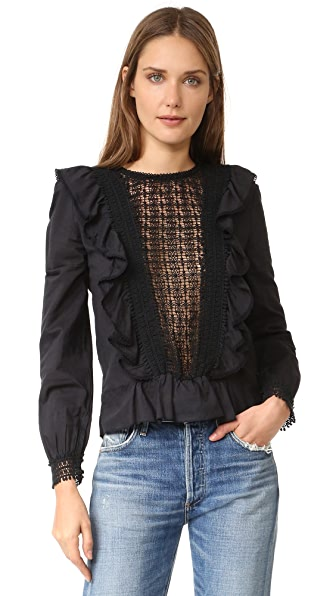 Love Sam Long Sleeve Ruffle Top