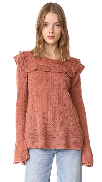 Love Sam Bib Front Sweater In Rosette