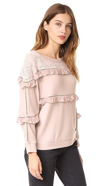 Love Sam Off Shoulder Ruffled Pullover