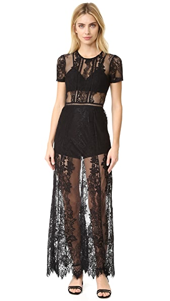 Lovers + Friends Romantic Night Dress - Black